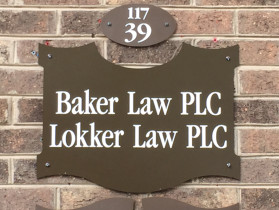 Baker Law PLC office sign