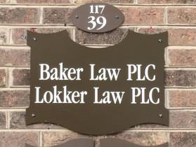 Baker Law PLC office sign